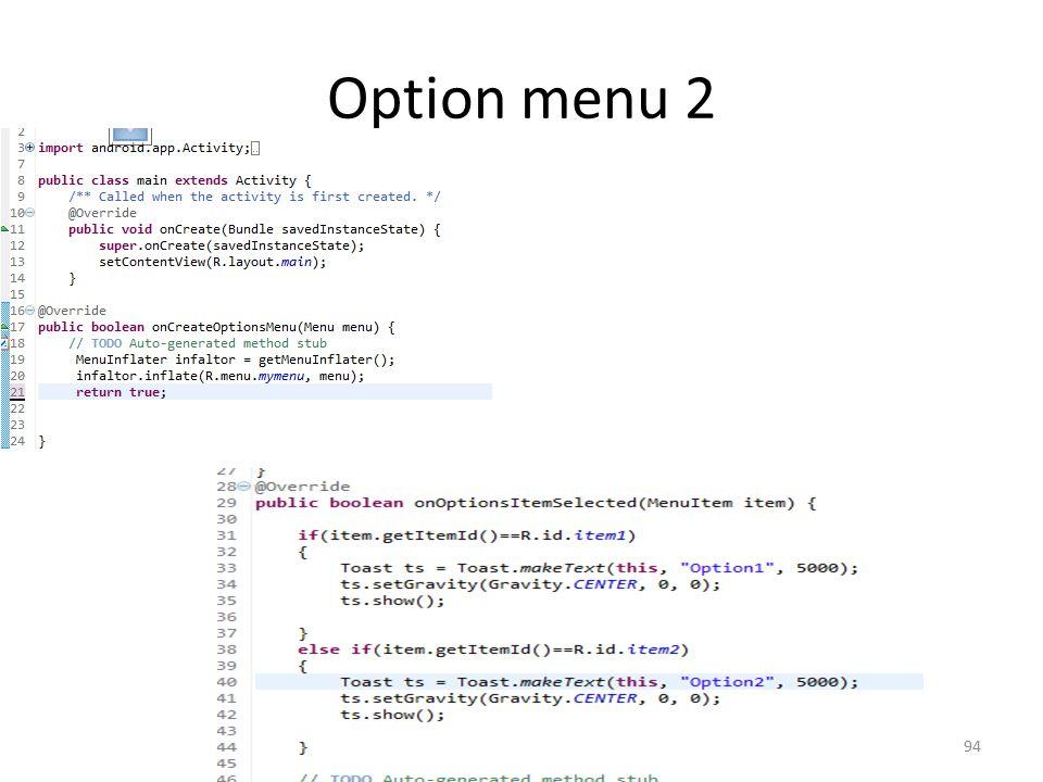 Option menu 2 Dr. Mustafa Cem Kasapbasi94