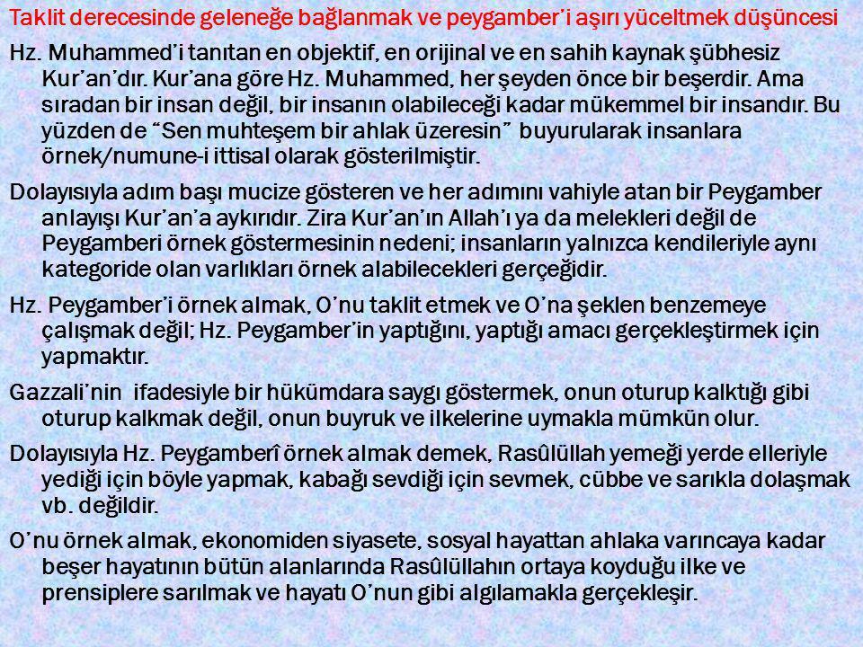 28 KASIM 2014 CUMA GÜNÜ KUR'AN – SÜNNET BÜTÜNLÜĞÜ KONULU 3.