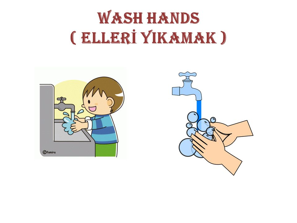 WASH HANDS ( ELLER İ YIKAMAK )