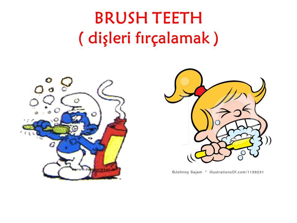 BRUSH TEETH ( dişleri fırçalamak )