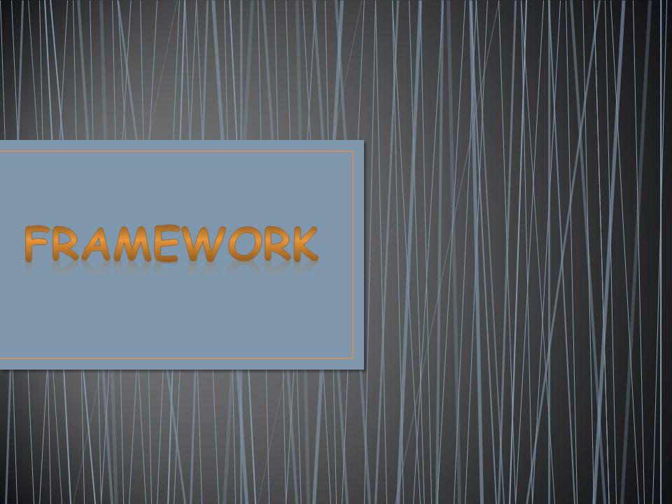 Framework, yazılımın iskeletini oluşturan, fonksiyon ve sınıflardan oluşan geniş çaplı bir kütüphaneye sahip uygulama çatısıdır.