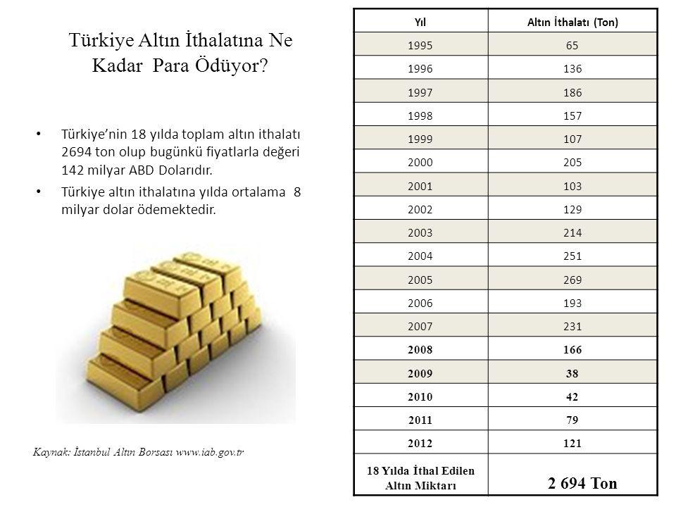 Türkiye Altın İthalatına Ne Kadar Para Ödüyor.
