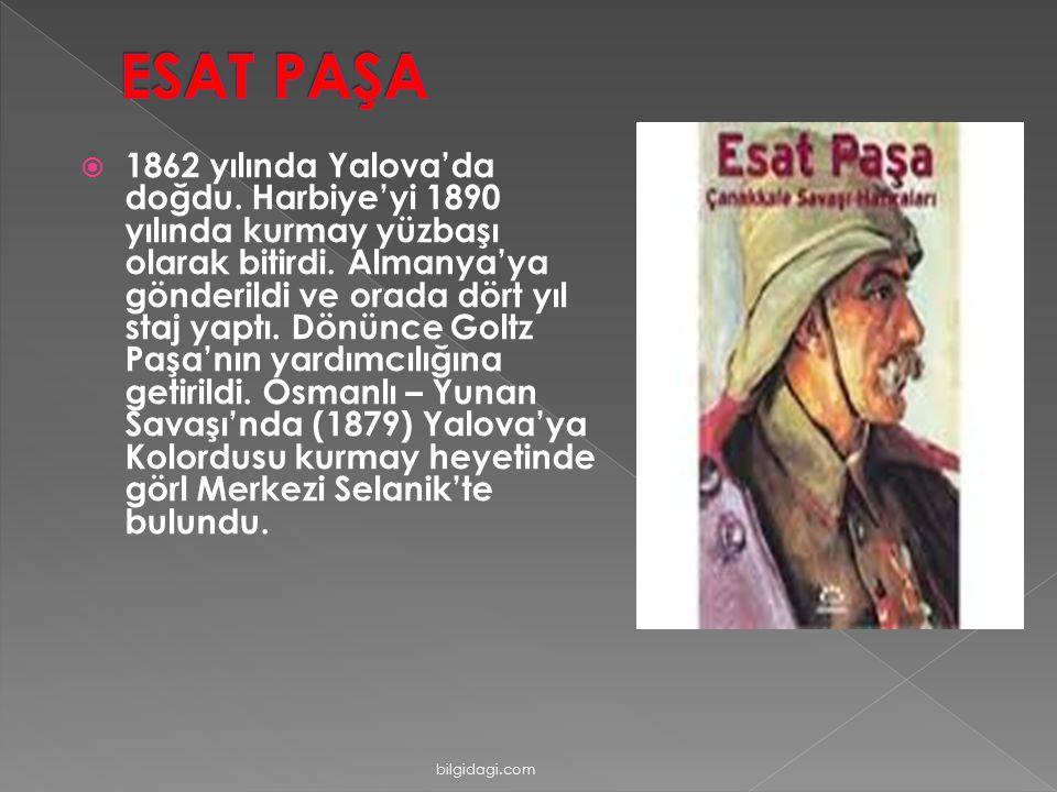  1862 yılında Yalova'da doğdu. Harbiye'yi 1890 yılında kurmay yüzbaşı olarak bitirdi. Almanya'ya gönderildi ve orada dört yıl staj yaptı. Dönünce Gol