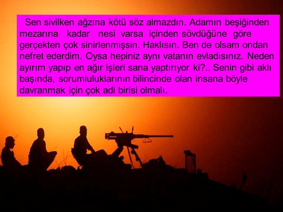 RECAİ SOYSUZU stop.Sayende askerliğim bitmeyecek stop!..