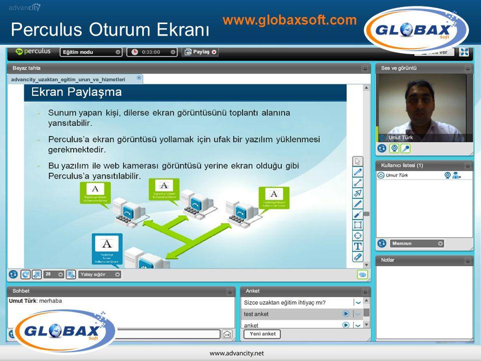 Perculus Oturum Ekranı www.globaxsoft.com