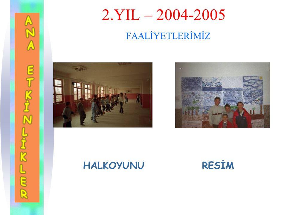 2.YIL – 2004-2005 FAALİYETLERİMİZ MÜZİK EDEBİYAT TİYATRO