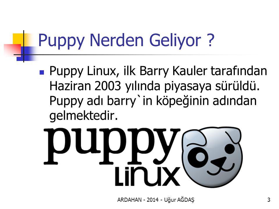 ARDAHAN - 2014 - Uğur AĞDAŞ3 Puppy Nerden Geliyor .