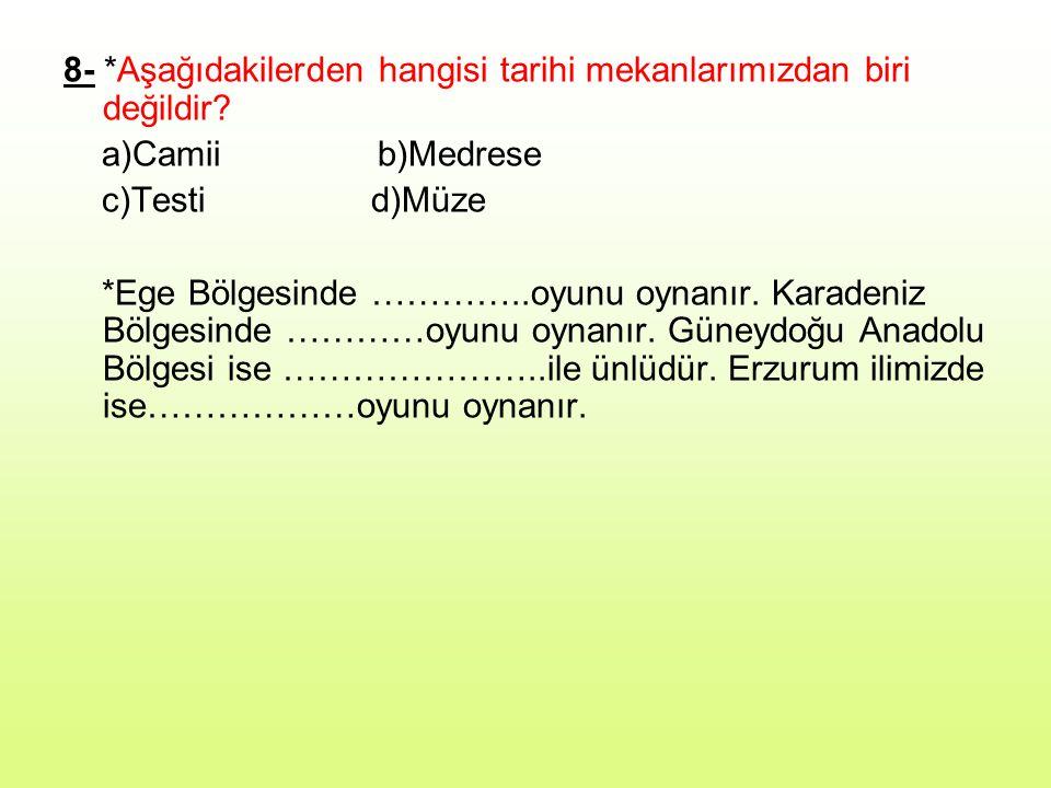 9- *Atatürk'ün yaptığı inkılaplar Türk Toplumunu ………………………………… ……………………………………………… …………………………… amacıyla yapıldı.