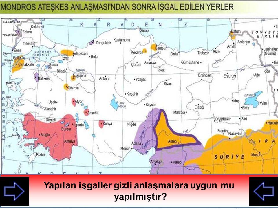 I. Dünya savaşı sırasında İtilaf devletleri yaptıkları gizli anlaşmalarla Osmanlıyı kağıt üzerinde paylaşmışlardı. Mondros Ateşkes Anlaşmasından sonra