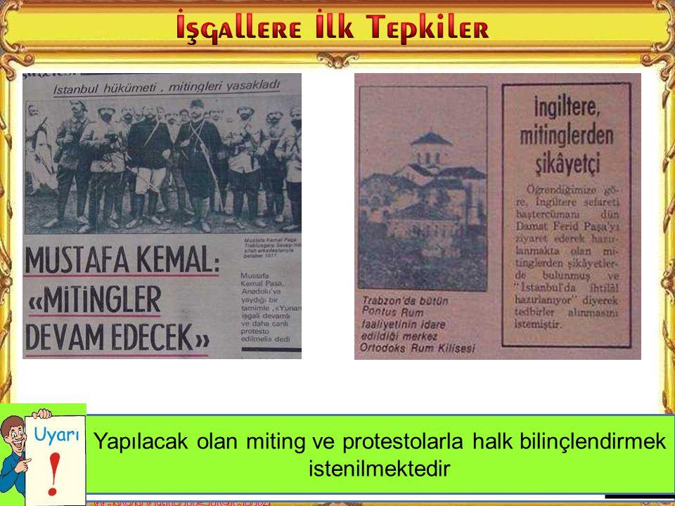İstiklal Harbi gazetesinin haberine göre İstanbul Hükümetinin işgallere karşı tutumu nasıldır?