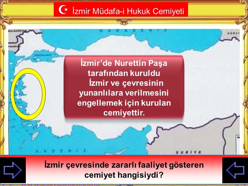  Milli (Yararlı) Cemiyetler Yurdun İtilaf devletleri tarafından işgal edilmesi Azınlıkların ve işgalcilerin çeşitli faaliyetleri karşısında İstanbul