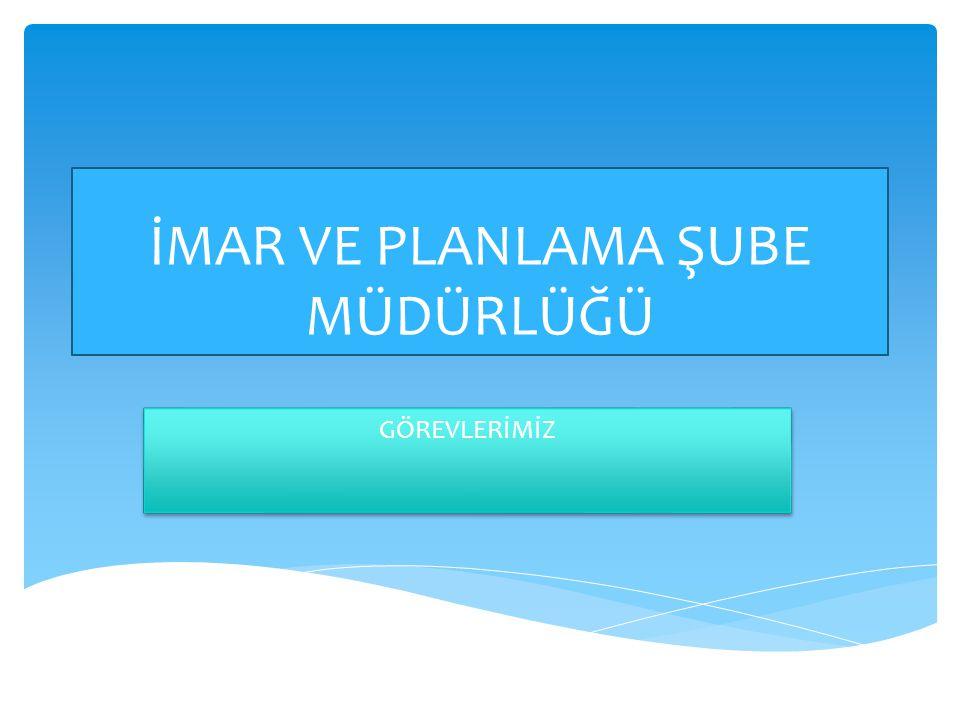 1) Bakanlığın kentsel ve mekânsal gelişme konularında belirlediği politika ve stratejilerin uygulanmasını ve izlenmesini sağlamak, kentsel ve mekânsal gelişmeyle ilgili konularda veri üretmek, derlemek, güncellemek ve raporlamak, 2) Mekânsal strateji planlarının hazırlanması, onaylanması, uygulanması ve izlenmesi aşamalarında, plan kapsamında kalan illerde, ildeki kurum ve kuruluşlarla işbirliği sağlayarak gerekli katkılarda bulunmak, her türlü tedbiri almak, planlama ve uygulama faaliyetlerinin bu stratejilere göre yürütülmesini sağlamak, 3) Bakanlığımıza sunulacak 1/5.000 ve 1/1.000 ölçekli İmar Planı tekliflerine ilişkin iş ve işlemleri yürütmek, 4) Çevre düzeni planları da dâhil her tür ve ölçekteki plan tekliflerine ilişkin yerel düzeyde gerekli çalışmaları yapmak, çevre düzeni planlarının uygulanmasını sağlamak, izlemek, ilgili idareler ile koordinasyonu sağlamak, 5) Bakanlıkça onaylanarak yürürlüğe konulan planların alt ölçekli planlara doğru biçimde aktarılmasını sağlamak üzere mahalli idareler ile birlikte çalışmalar yapmak ve uygulamaları izlemek ve denetlemek, 6) Çevre düzeni planına aykırı alt ölçekli plan kararlarının veya uygulamalarının tespiti halinde, alt ölçekli planların çevre düzeni planı kararlarına uygun hale getirilmesi için gerekli işlemleri yapmak ve Bakanlığa bilgi vermek, 7) Planlama çalışmaları kapsamında, diğer kurumların koordinasyonunda yürütülecek Yer seçimi veya tespit çalışmalarına katılmak ve Bakanlığa bilgi vermek, 8) Bakanlar Kurulunca belirlenen proje kapsamı içerisinde kalmak kaydıyla kamuya ait tescilli araziler ile tescil dışı araziler ve muvafakatleri alınmak koşuluyla özel kişi veya kuruluşlara ait arazilerin yeniden fonksiyon kazandırılıp geliştirilmesine yönelik olarak Bakanlıkça istenilen her tür ve ölçekte etüt, harita ve kamulaştırma işlemlerini yapmak,