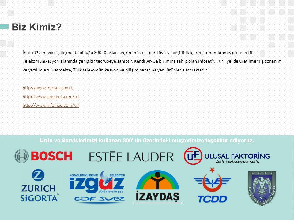 Biz Kimiz? İnfoset®, mevcut çalışmakta olduğu 300' ü aşkın seçkin müşteri portföyü ve çeşitlilik içeren tamamlanmış projeleri ile Telekomünikasyon ala