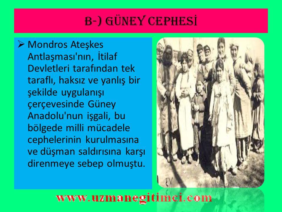 DO Ğ U CEPHES İ 2.Ermeniler Doğu Anadolu daki toprak isteklerinden vazgeçtiler.