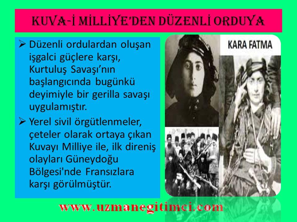 KURTULU Ş SAVA Ş I'NA F İ KR İ HAZIRLIK  Doğuda Erzurum da bir hareket başlamış bulunmaktaydı ve Mustafa Kemal hızlı bir biçimde hareket ederek tüm organizasyonun başına geçti.