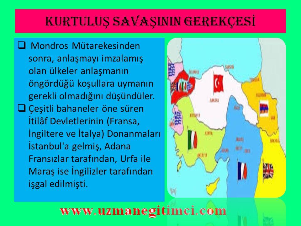 DO Ğ U CEPHES İ  I.TBMM XV. Kolordu Komutanı Kazım Karabekir i Doğu Cephesi komutanlığına atadı.