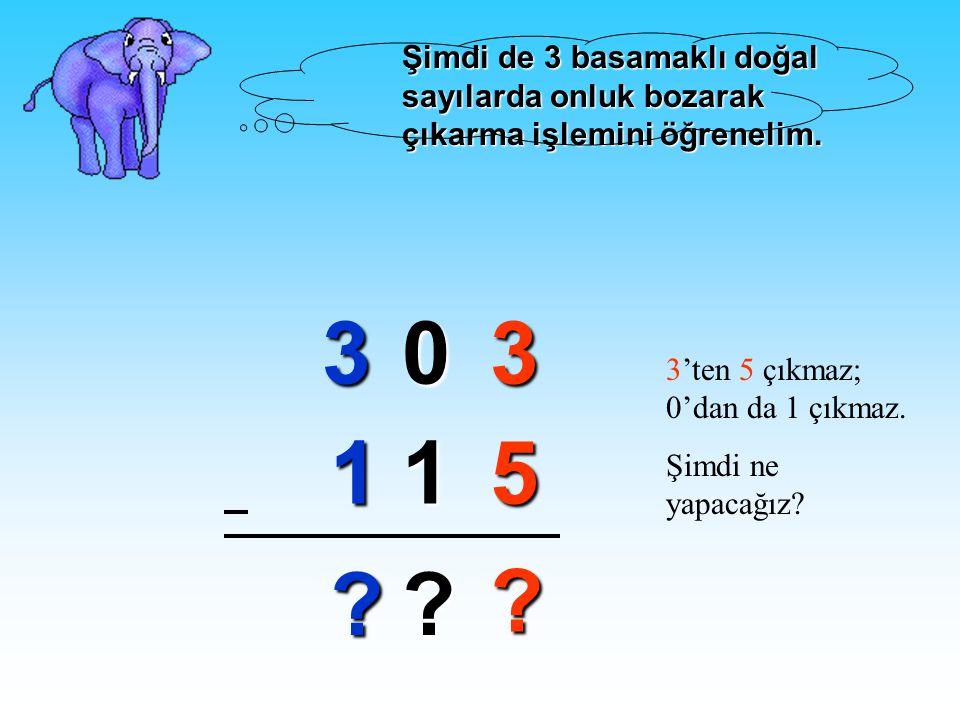 48 21 6 3 Birler basamaklarıOnlar basamakları 3 basamaklı doğal sayılarda da önce birler basmağı sonra onlar basamağı ve en sonunda da yüzler basamakl