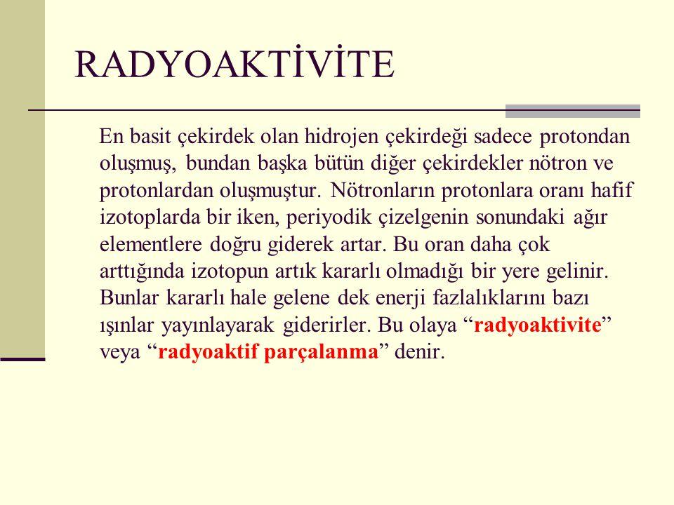 YAPAY RADYASYON KAYNAKLARI