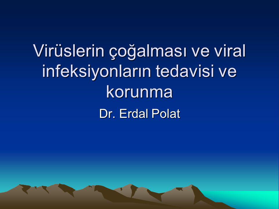 Virüslerin çoğalması ve viral infeksiyonların tedavisi ve korunma Dr. Erdal Polat