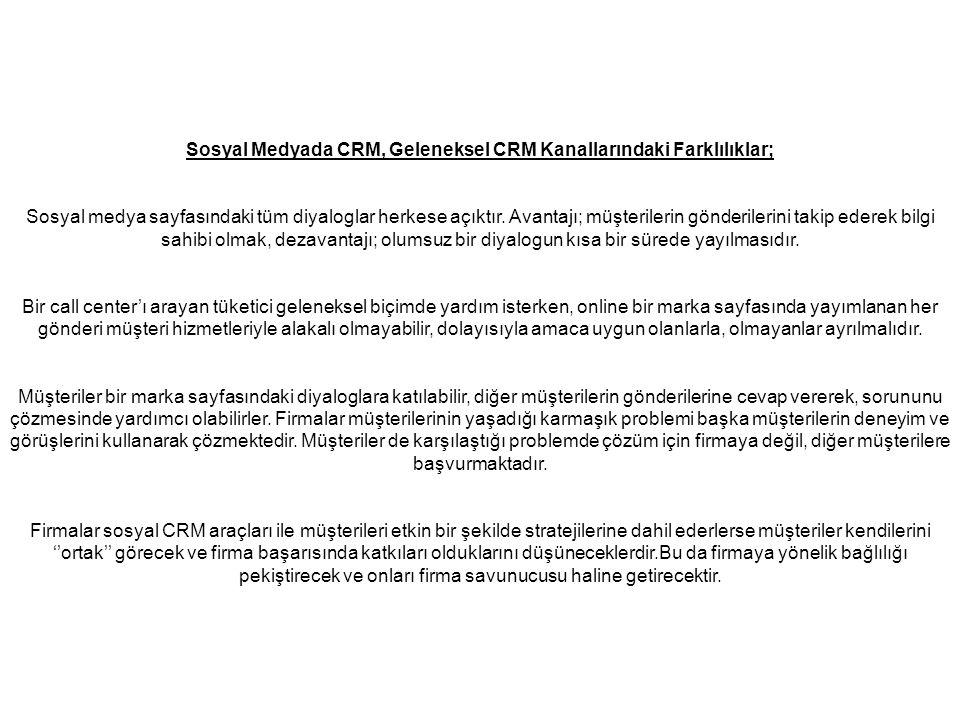 Sosyal Medyada CRM, Geleneksel CRM Kanallarındaki Farklılıklar; Sosyal medya sayfasındaki tüm diyaloglar herkese açıktır.