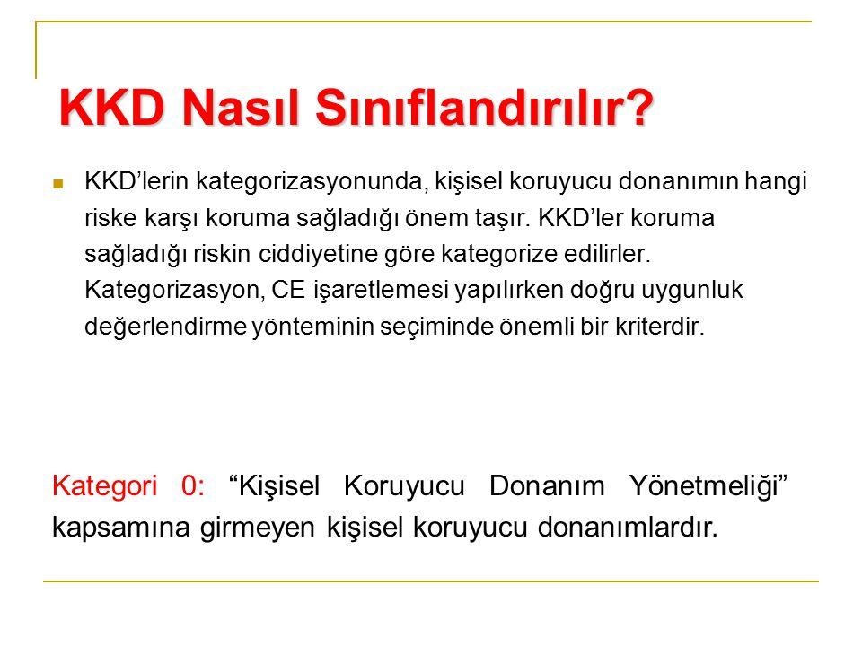 KKD Nasıl Sınıflandırılır? KKD'lerin kategorizasyonunda, kişisel koruyucu donanımın hangi riske karşı koruma sağladığı önem taşır. KKD'ler koruma sağl