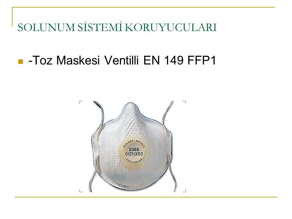 SOLUNUM SİSTEMİ KORUYUCULARI -Toz Maskesi Ventilli EN 149 FFP1