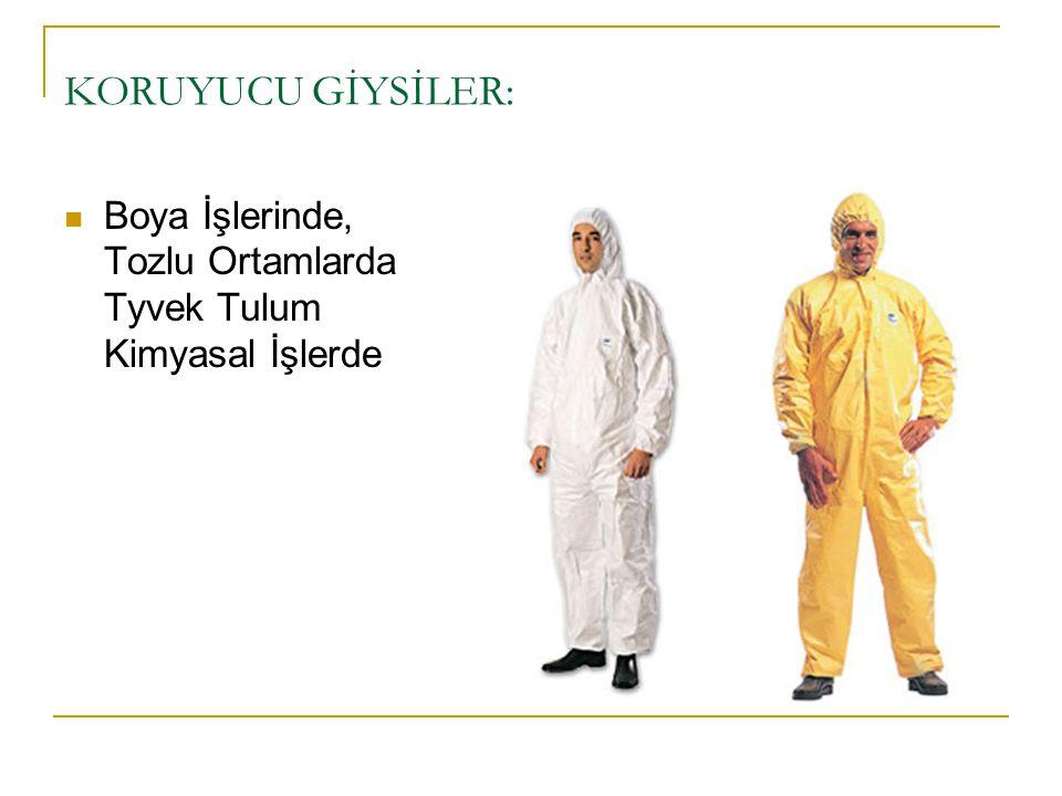 KORUYUCU GİYSİLER: Boya İşlerinde, Tozlu Ortamlarda Tyvek Tulum Kimyasal İşlerde