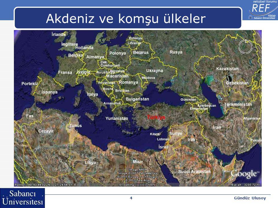 Gündüz Ulusoy4 Akdeniz ve komşu ülkeler