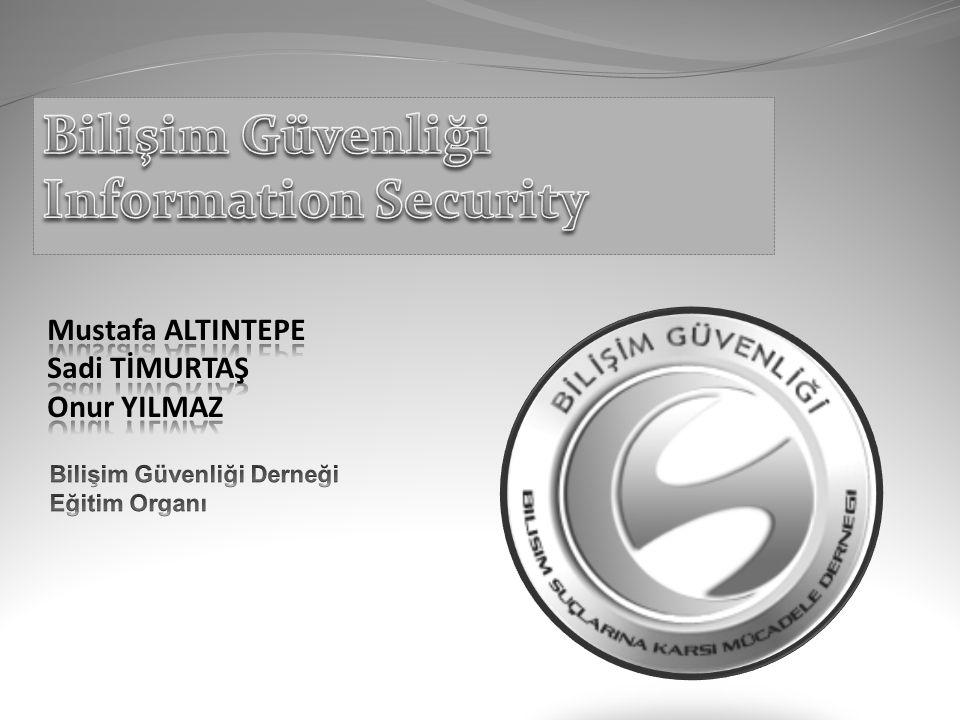 Gündem Bilişim Güvenliği Bilişim Suçları Bilişim Güvenliği ve Bilişim Suçlarına Karşı Mücadele Derneği Hacking (Siber Saldırılar) Security (Güvenlik) Personal Security (Kişisel Güvenlik) Web Uygulamaları Güvenliği Soru - Cevap