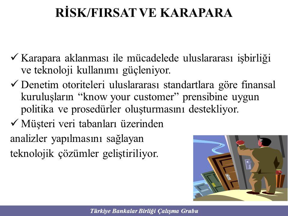 Türkiye Bankalar Birliği Çalışma Grubu RİSK/FIRSAT VE KARAPARA Karapara aklanması ile mücadelede uluslararası işbirliği ve teknoloji kullanımı güçleni