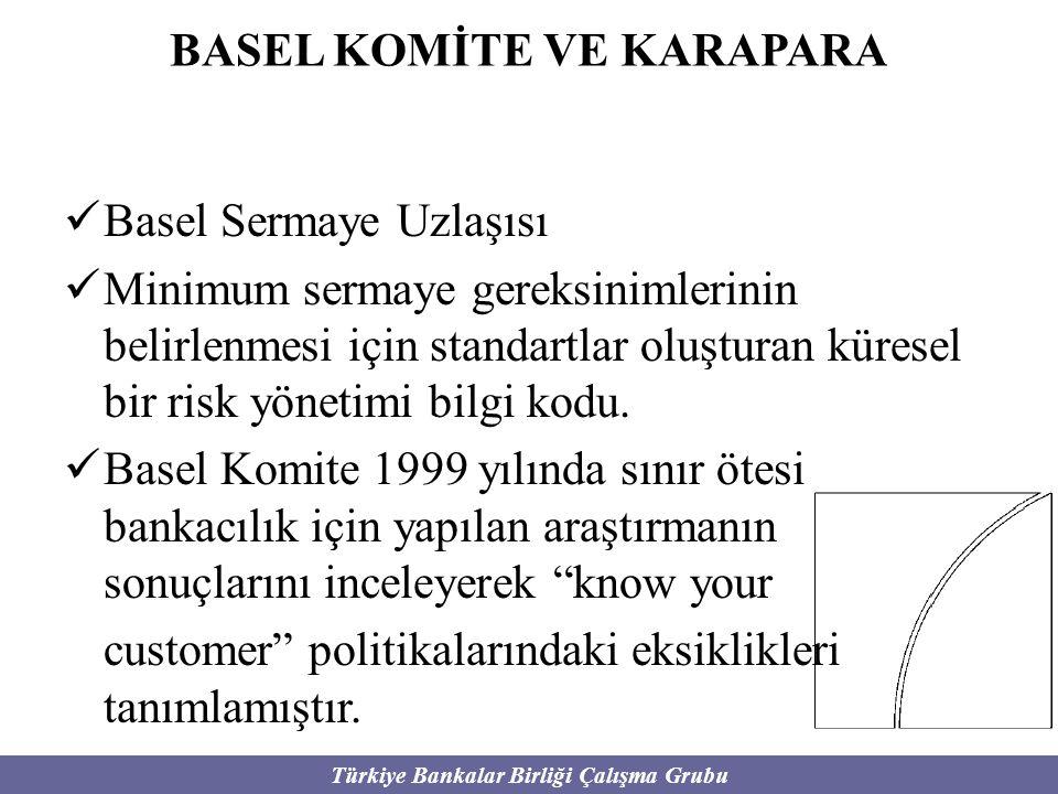 Türkiye Bankalar Birliği Çalışma Grubu BASEL KOMİTE VE KARAPARA Basel Sermaye Uzlaşısı Minimum sermaye gereksinimlerinin belirlenmesi için standartlar