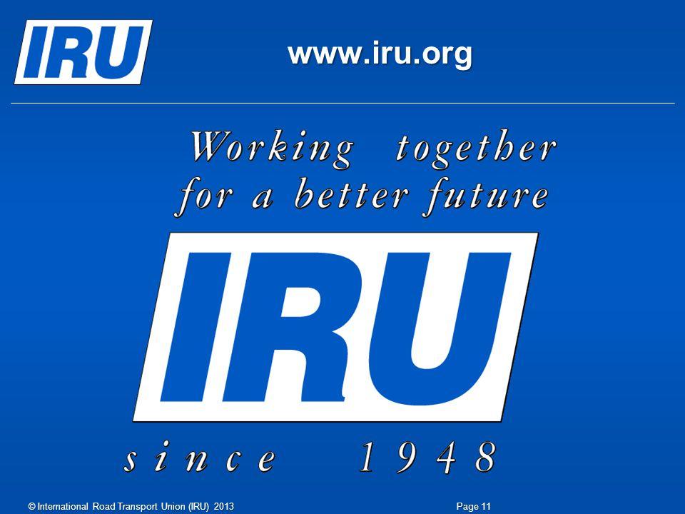 www.iru.org Page 11