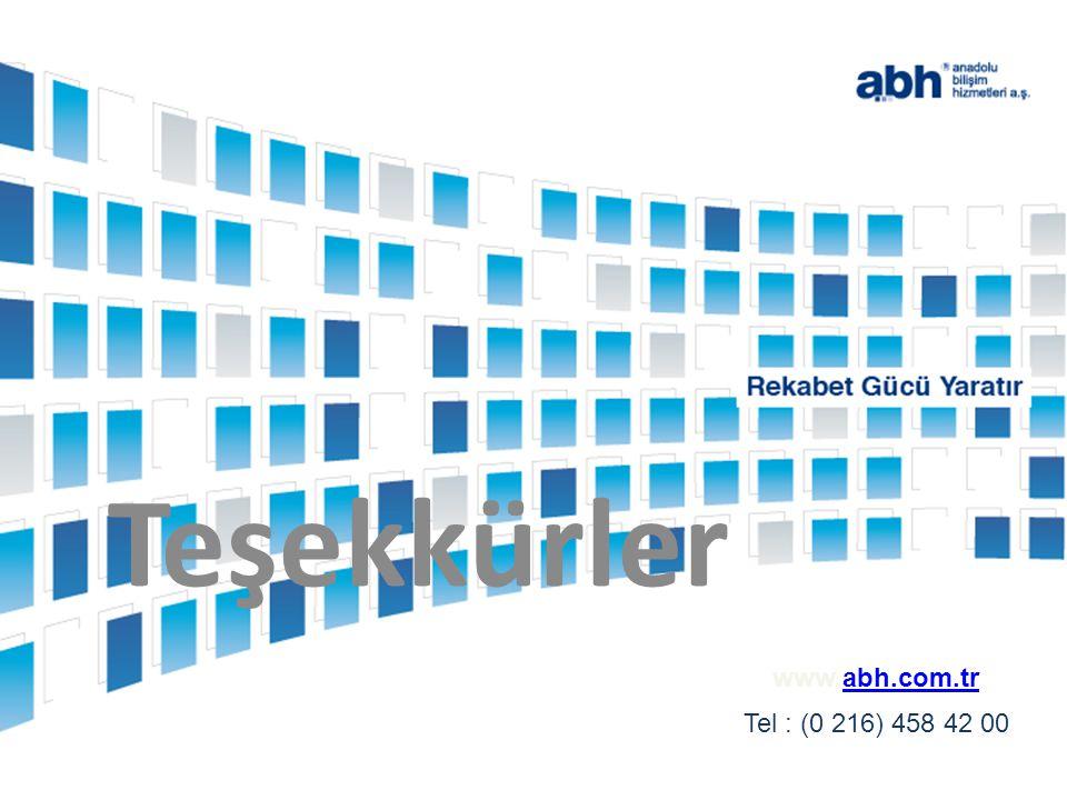www.abh.com.trabh.com.tr Tel : (0 216) 458 42 00 Teşekkürler