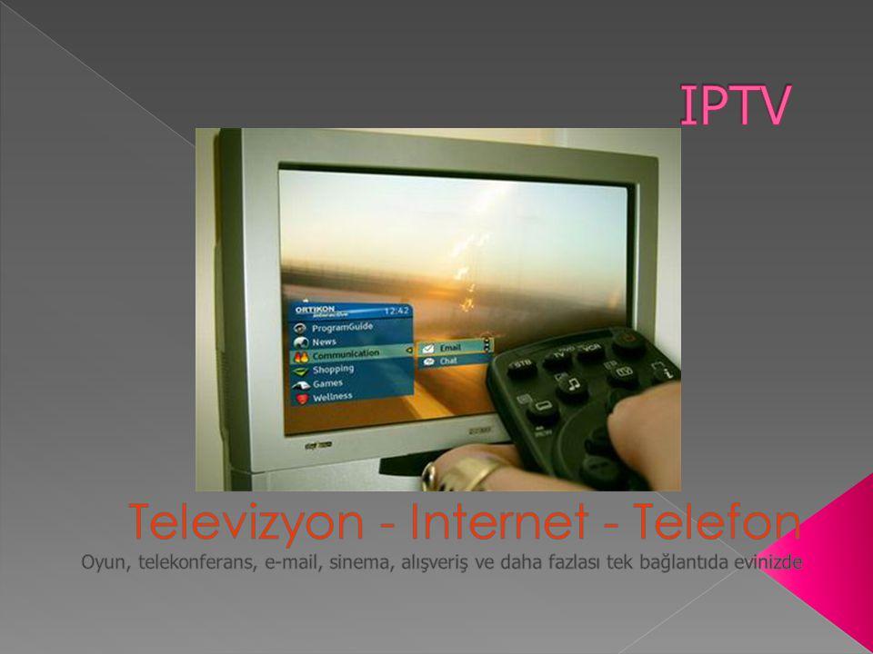  Neden IPTV.› Telekom Operatörleri ve Yayın Şirketleri için yeni gelir kalemleri yaratma.