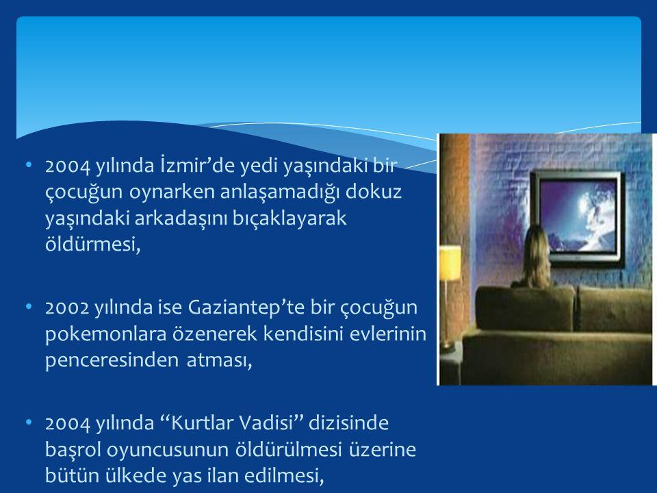 2004 yılında İzmir'de yedi yaşındaki bir çocuğun oynarken anlaşamadığı dokuz yaşındaki arkadaşını bıçaklayarak öldürmesi, 2002 yılında ise Gaziantep't