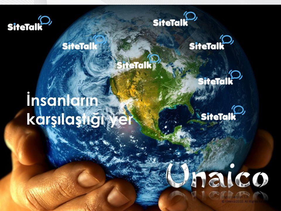English version 1.0 © Unaico 2010. All Rights Reserved. İnsanların karşılaştığı yer