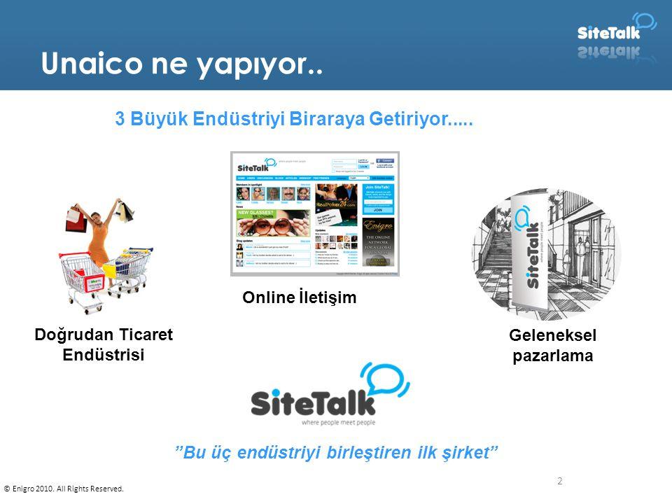 2 Unaico ne yapıyor.. Online Community 3 Büyük Endüstriyi Biraraya Getiriyor.....