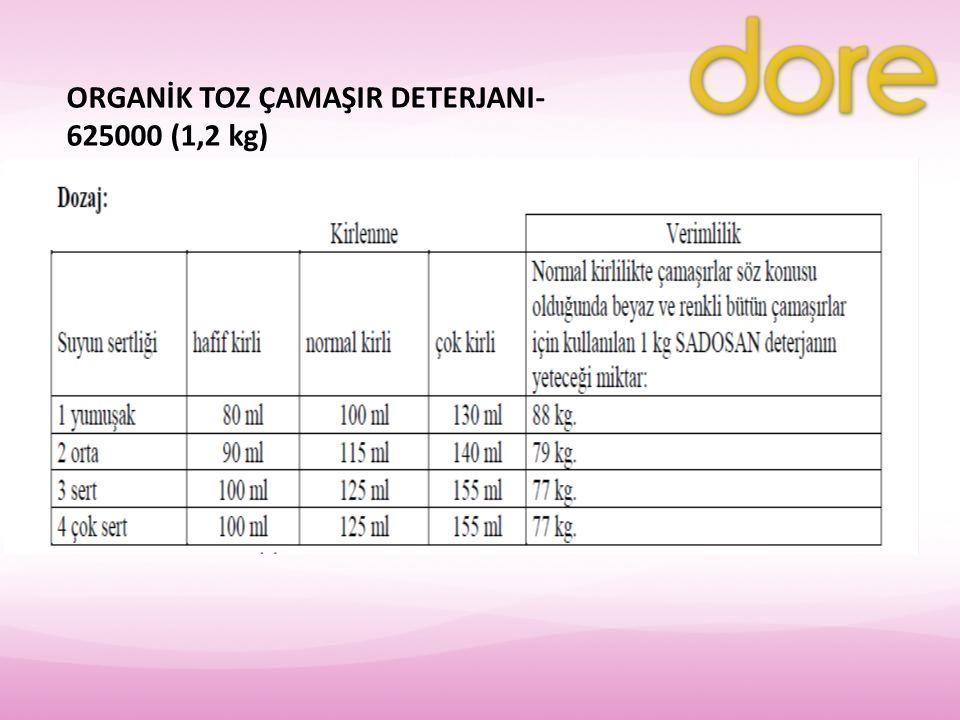 ORGANİK TOZ ÇAMAŞIR DETERJANI- 625000 (1,2 kg)