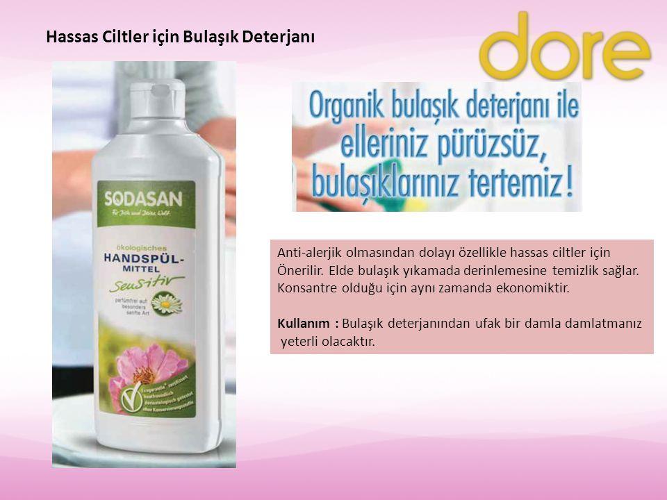 Hassas Ciltler için Bulaşık Deterjanı Anti-alerjik olmasından dolayı özellikle hassas ciltler için Önerilir. Elde bulaşık yıkamada derinlemesine temiz