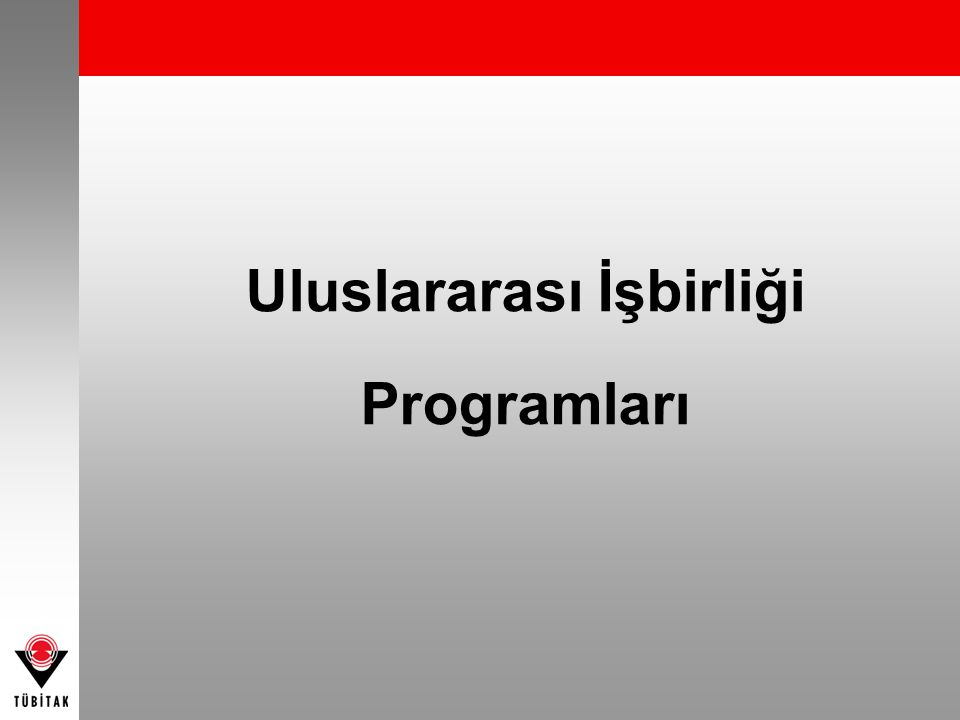 Uluslararası İşbirliği Programları
