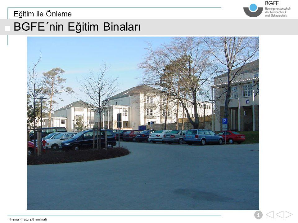 Thema (Futura 8 normal) Eğitim ile Önleme i BGFE´nin Eğitim Binaları