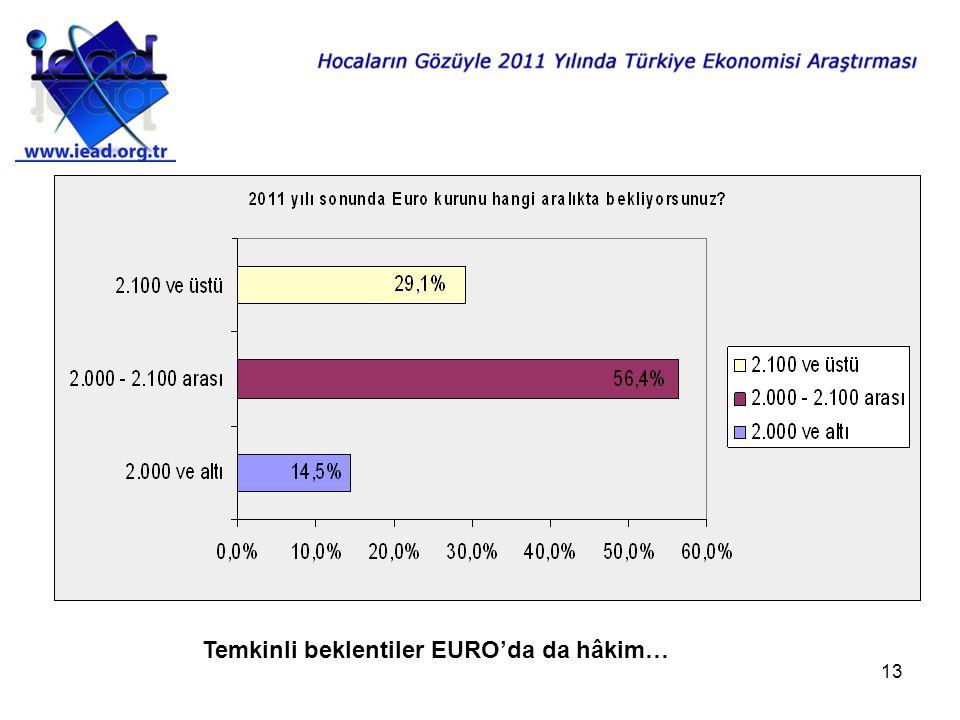 13 Temkinli beklentiler EURO'da da hâkim…