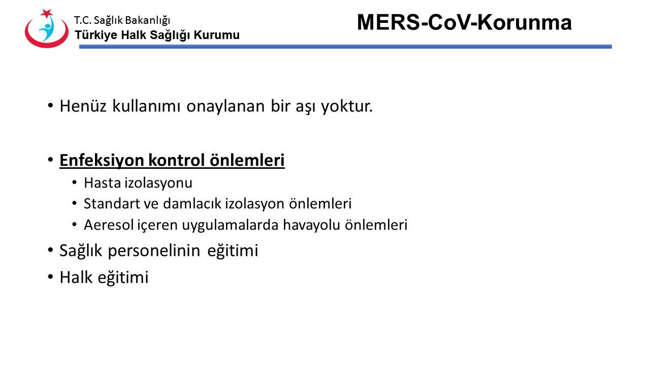 T.C. Sağlık Bakanlığı Türkiye Halk Sağlığı Kurumu T.C. Sağlık Bakanlığı Türkiye Halk Sağlığı Kurumu MERS-CoV-Tedavi İkincil enfeksiyonları ve komplika