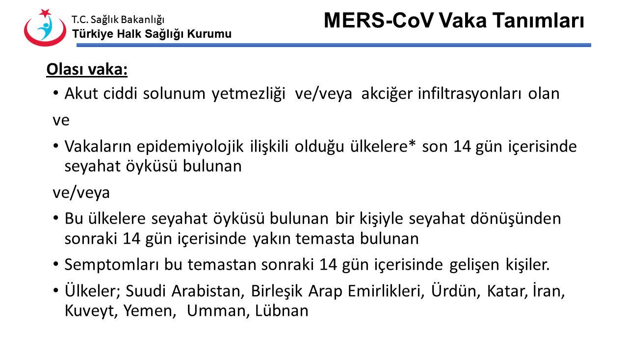T.C. Sağlık Bakanlığı Türkiye Halk Sağlığı Kurumu T.C. Sağlık Bakanlığı Türkiye Halk Sağlığı Kurumu MERS-CoV-Korunma Henüz kullanımı onaylanan bir aşı