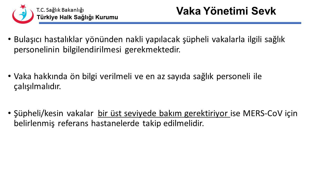 T.C. Sağlık Bakanlığı Türkiye Halk Sağlığı Kurumu T.C. Sağlık Bakanlığı Türkiye Halk Sağlığı Kurumu Şikayeti olan her kişinin, sadece MERS-CoV riski y