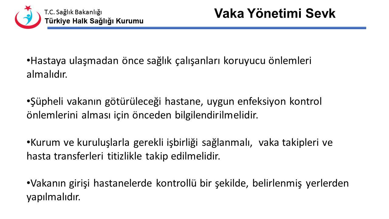 T.C. Sağlık Bakanlığı Türkiye Halk Sağlığı Kurumu T.C. Sağlık Bakanlığı Türkiye Halk Sağlığı Kurumu Bulaşıcı hastalıklar yönünden nakli yapılacak şüph