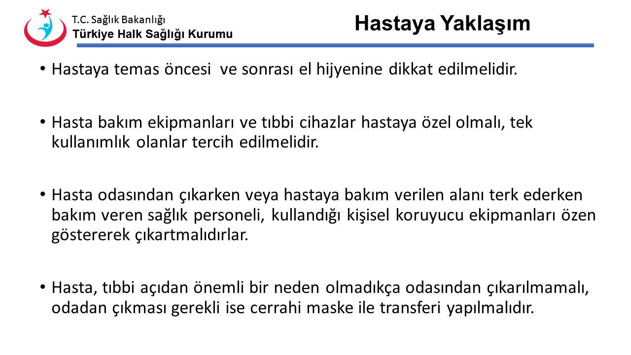 T.C. Sağlık Bakanlığı Türkiye Halk Sağlığı Kurumu T.C. Sağlık Bakanlığı Türkiye Halk Sağlığı Kurumu Kişisel koruyucu malzemelerin kullanımı Hasta odas