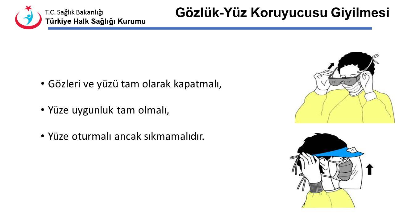 T.C. Sağlık Bakanlığı Türkiye Halk Sağlığı Kurumu T.C. Sağlık Bakanlığı Türkiye Halk Sağlığı Kurumu Maske Takıldıktan Sonra Tükrük veya sekresyonlarla