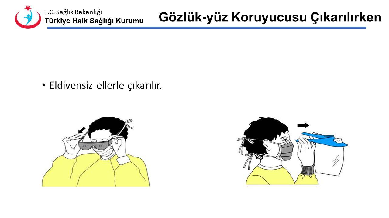 T.C. Sağlık Bakanlığı Türkiye Halk Sağlığı Kurumu T.C. Sağlık Bakanlığı Türkiye Halk Sağlığı Kurumu Önlük Çıkarılırken Omuz kısımlarından tutulur, Kon