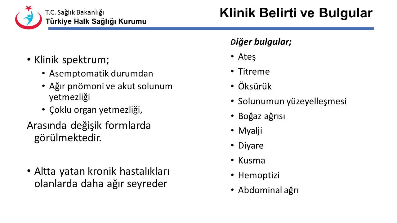 T.C. Sağlık Bakanlığı Türkiye Halk Sağlığı Kurumu T.C. Sağlık Bakanlığı Türkiye Halk Sağlığı Kurumu Kuluçka Dönemi 5-14 gündür.